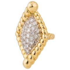 18 Karat Diamond Yellow Gold Ring