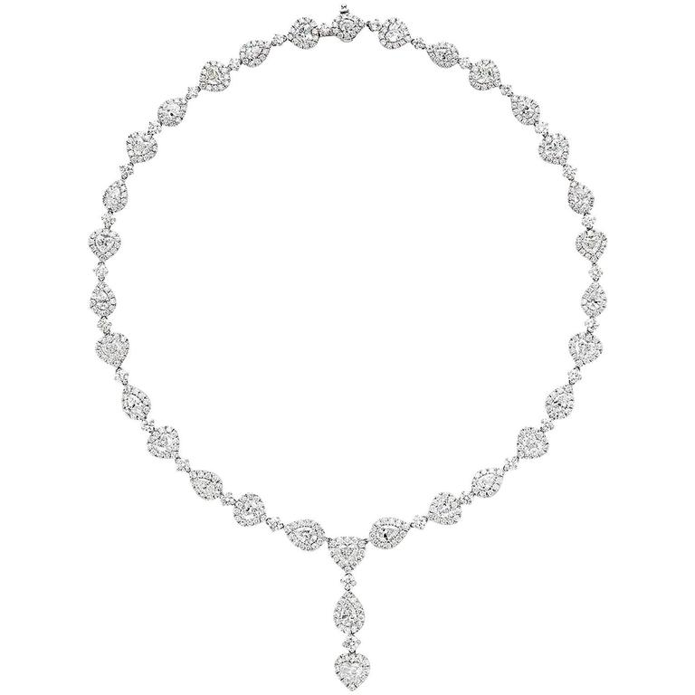 Gorgeous 45 Carats Fancy Cut Diamonds Necklace