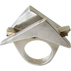 Suzanne Somogy Sterling Silver Postmodern Ring