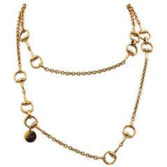 Gucci 18 Karat Rose Gold Horsebit Chain Necklace