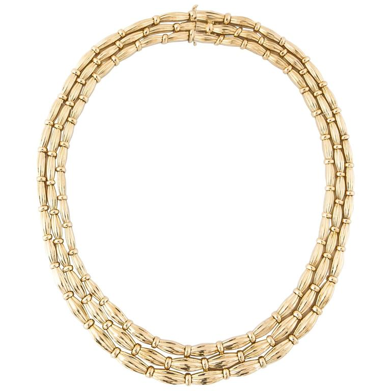 Tiffany & Co. Gold Strand Necklace