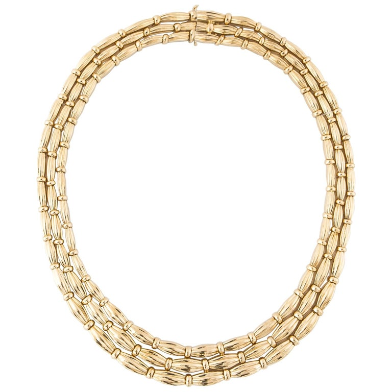 Tiffany & Co. 18K Yellow Gold Necklace For Sale