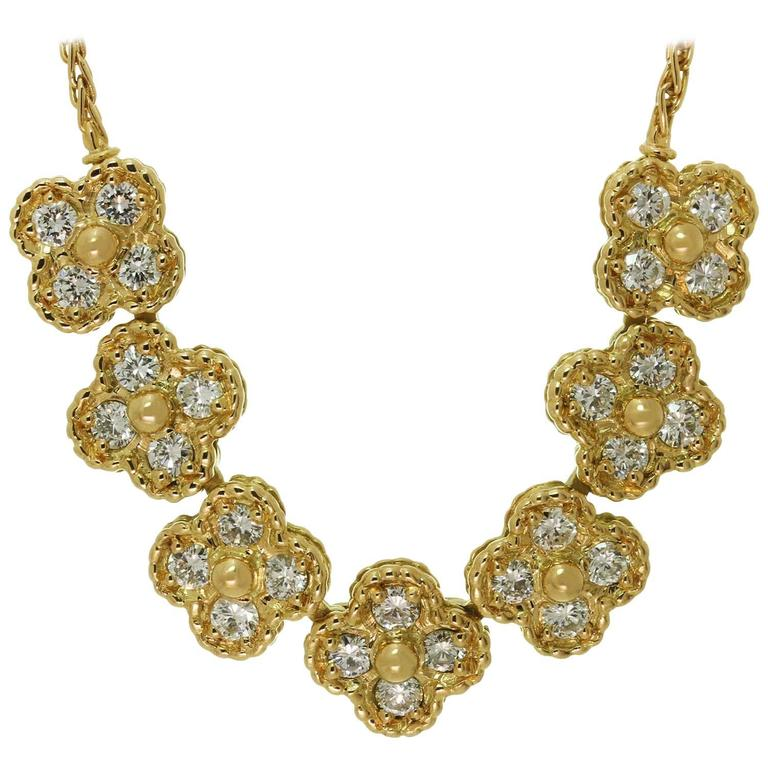 Van Cleef & Arpels Arno Alhambra Diamond Yellow Gold Necklace 1