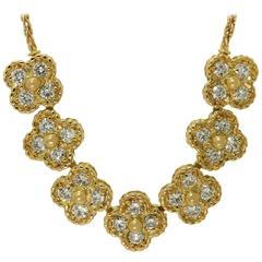 Van Cleef & Arpels Arno Alhambra Diamond Yellow Gold Necklace
