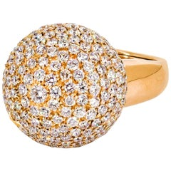 De Grisogono Diamond and Rose Gold Dome Ring