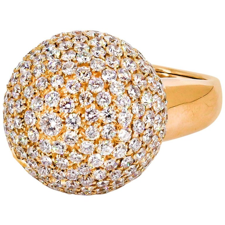 De Grisogono Diamond and Rose Gold Dome Ring 1