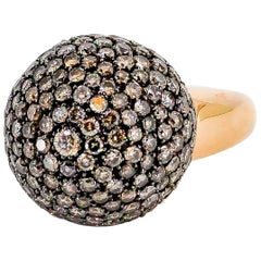 De Grisogono Colored Diamond and Rose Gold Dome Ring