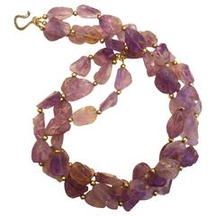 Michael Kneebone Three Strand Ametrine Torsade Necklace