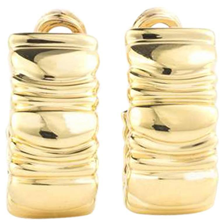 Cartier Baignoire Gold Earrings
