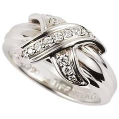 Tiffany & Co. Schlumberger Ring with Diamonds in White Gold
