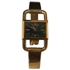 Jaeger-LeCoultre Hermes Ladies Etriers Yellow Gold Mechanical Wristwatch c1960