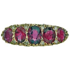 Antique Ruby and Diamond 18 Karat Ring, circa 1900