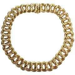 Yellow Gold Large Link Collar Necklace
