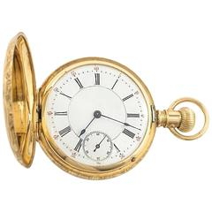 Victorian Agassiz Yellow Gold Hunter Case Pocket Watch