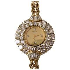Chopard Ladies Yellow Gold Diamond Bracelet Wristwatch