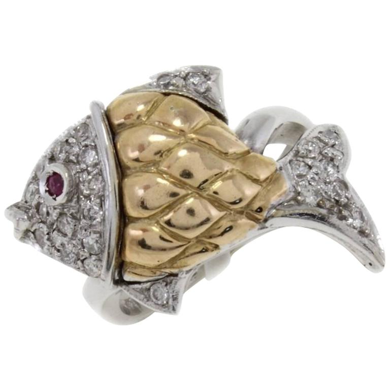 Luise Diamonds Ruby Cocktail Ring 1