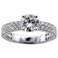 1.14 Carat IGI Certified Round Brilliant Cut Diamond Solitaire Engagement Ring