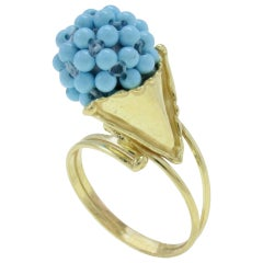 Stones 18 kt Gold Cluster Ring
