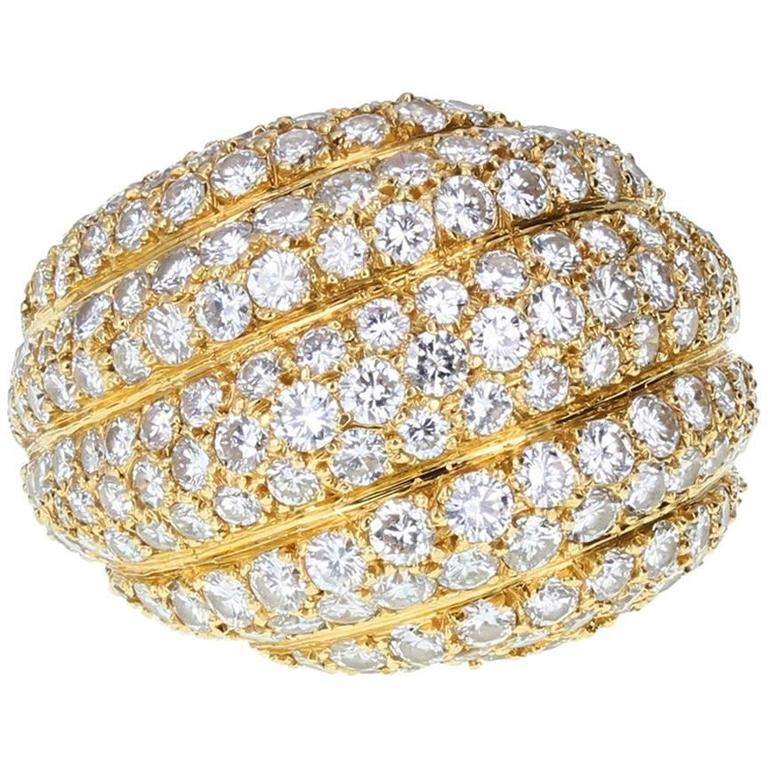 Cartier Diamond Gold Bombé Ring
