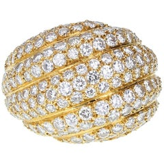 Cartier Diamond Gold Bombé Ring