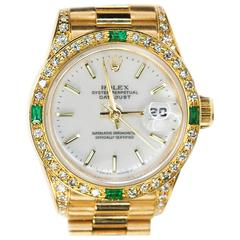 Rolex Ladies Yellow Gold President Oyster Perpetual Wristwatch