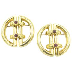 Tiffany & Co., Ruby and Gold Clip Brooches