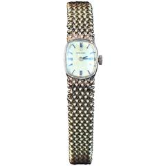 Omega Lady's Yellow Gold Woven Wristwatch