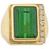 Burle Marx Tourmaline and Diamond Ring