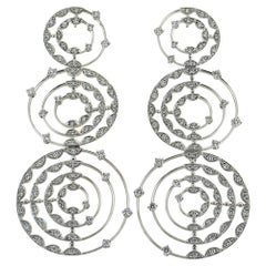 Palmiero Diamond 18 Karat White Gold Drop Earrings
