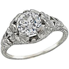 Edwardian GIA 1.19 Carat Diamond Engagement Ring
