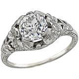Edwardian GIA 1.19 Carat Diamond Engagement Ring