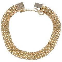 Bismark Italian Gold Link Italian Bracelet