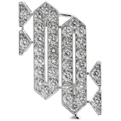Cartier Platinum Diamond Brooch Necklace