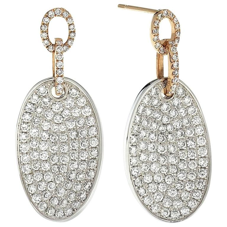 One of a Kind Micro Pave Diamond Earrings 2