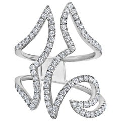 Emilio Jewelry Geometric Diamond Ring