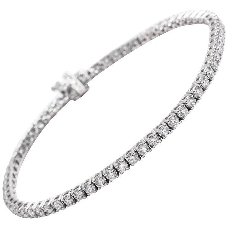 Diamond Tennis Bracelet 3.00 Carat For Sale