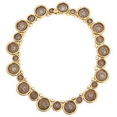 Marina B Solar Coins Gold Link Necklaces
