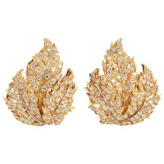 Buccellati Floral Diamond Ear-Clips