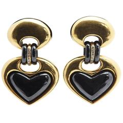 Faraone Heart-Shaped Ear Pendants