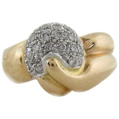 ct 1,10 Diamonds Gold Cluster Ring