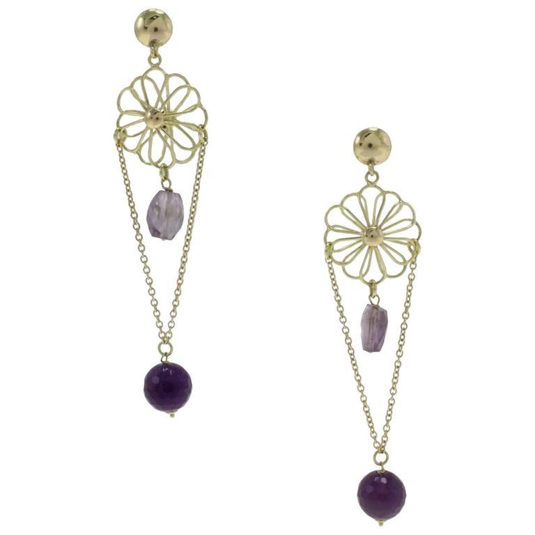 Luise Stones Gold Dangle Earrings