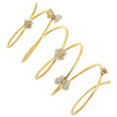 Stambolian Enchanted Garden Flexible Diamond Gold Bracelet