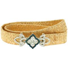 Stambolian Sapphire Diamond Gold Enchanted Garden Bracelet and Choker Necklace