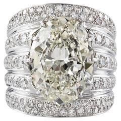 Important 14.03 Carat Diamond Platinum Ring