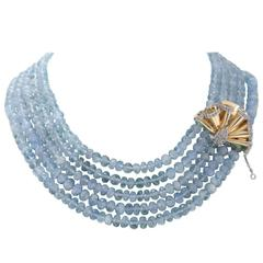 Luise Multi Strands Aquamarine Necklace