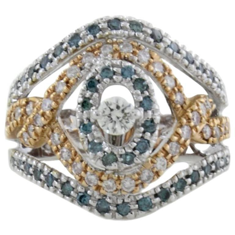 Fancy Diamond Dome Gold  Ring
