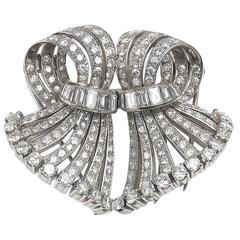 Diamond Double Clip Brooch
