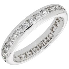 Tiffany & Co. 2.0 Carat Diamond Platinum Lucida Eternity Band