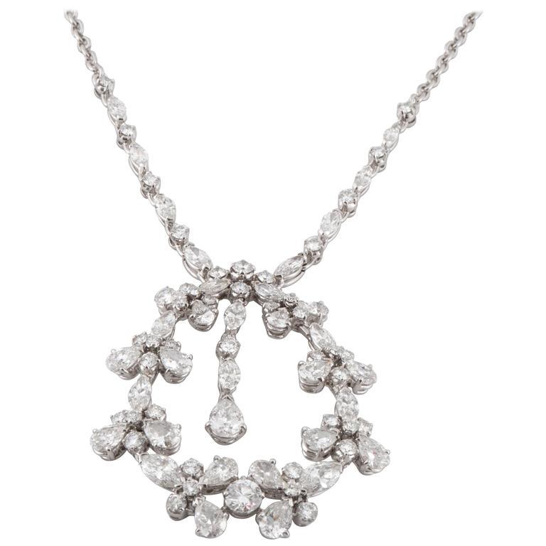Diamond White Gold Drop Necklace