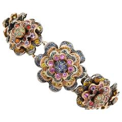 KT 39,00 Sapphire multicolor,rose gold and silver  Bracelet
